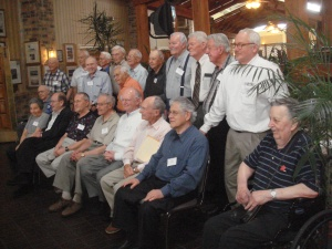 Survivors, (seated) 30th Infantry Division, Matthew Rozell. 3-27-09.