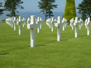 American Cemetery overlooking Omaha Beach, the primary landing zone for Americans during the D-Day invasion June 6, 1944. (U.S. Air Force Photo)