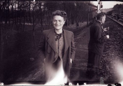Gina as photogrpahed by her liberator George C. Gross, Sat. morning, April 14th, 1945. Farsleben, Germany.