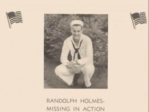 Randy Holmes, 1942 Hudson Falls school yearbook dedication page.
