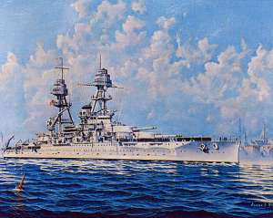 USS Oklahoma at sea in 1937. from http://bit.ly/10WHiaw