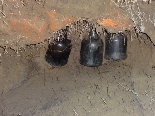 "The Bottles. Unbroken. Filled? King Tut's tomb moment. ""The tension mounts..."""