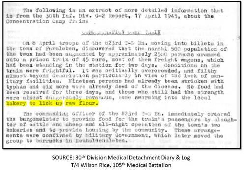 30th Division Medical Detachment Diary & Log