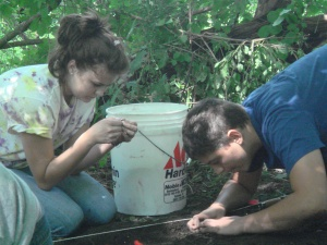 Our high school kids learning how to think, placing the artifacts at hand in the context of a major world war that was partially fought in their own backyard.
