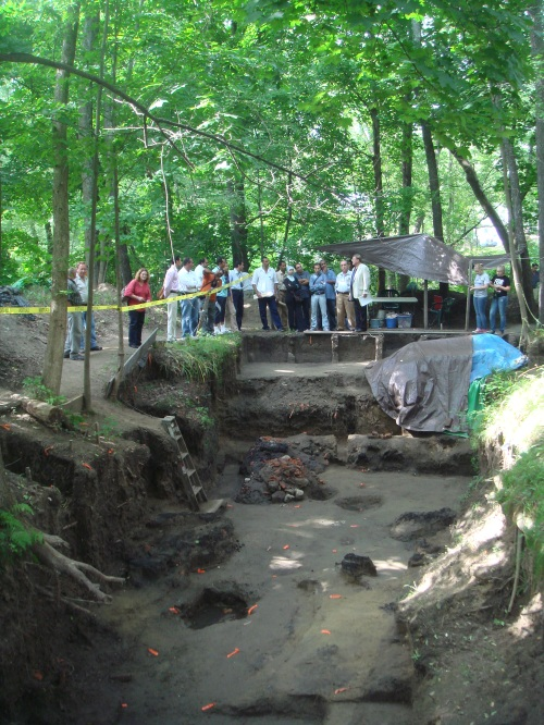 Egyptian Archaeologists visit the sutlers site, 2009. My baby. They were impressed. Proud daddy.