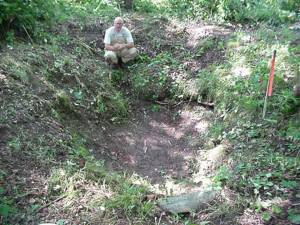 Matthew Rozell rediscovers and rekindles interest in sutler site, 1996.