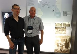 Bernd Horstmann, Custodian of the Book of Names, Matthew Rozell, History Teacher, July 5, 2013. Bergen Belsen, Evacuation transports exhibit, based in part on Rozell's work.
