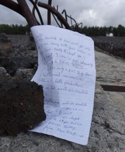 Belzec, Poland. Letter from a survivor to me, the site where she lost her mother. Nearly 70 years later I would have the honor of introducing her to her own liberators.
