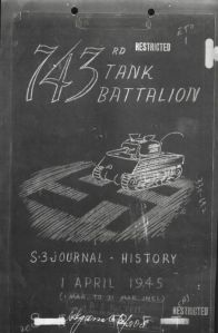 Cover of After Action Report for April 1945.