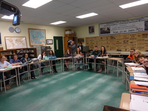 Class of 2014 in my classroom, April 28, 2014. NBC News has arrived.