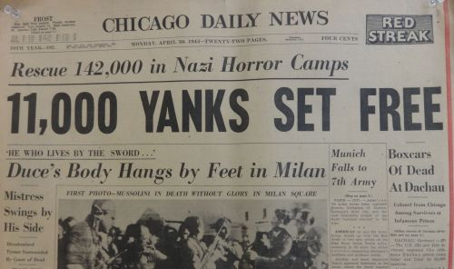 April 30 1945 Headlines. Hangs in my classroom.