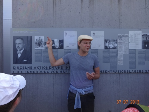 Our historian/guide at Sachsenhausen, Martin S.