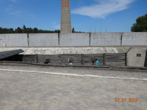 The shooting pit at Sachsenhausen.