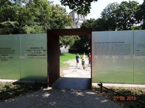 Holocaust memorial for the Roma and Sinti. Berlin.