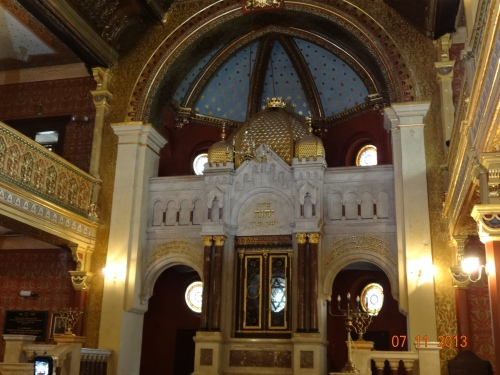 Tempel Synagogue, interior. Restored. Used a stable by Germans. Krakow.