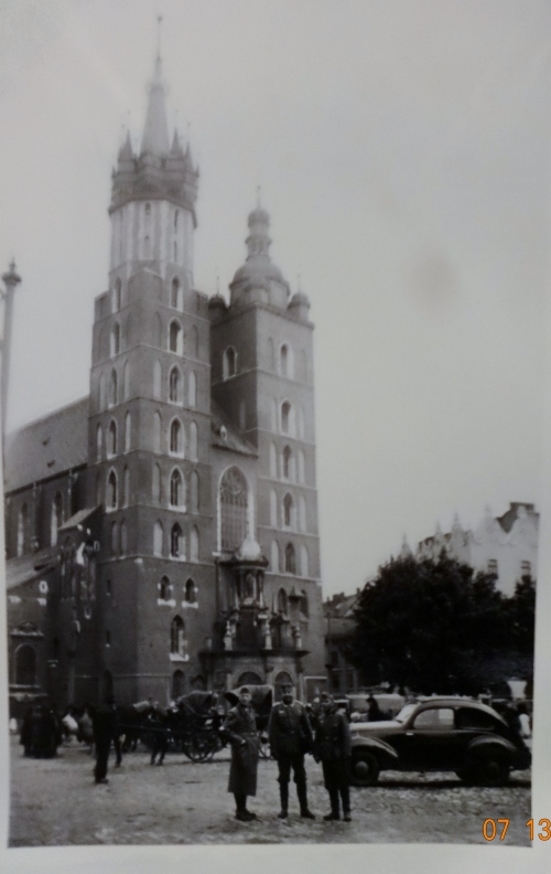 St. Mary's Basilica, Kracow. During the occupation.