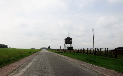 Majdanek. Note Soviet Memorial. It is actually a mausoleum. Which I did not know until I saw it with my own eyes. Human remains.