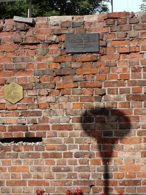 Warsaw Ghetto wall.