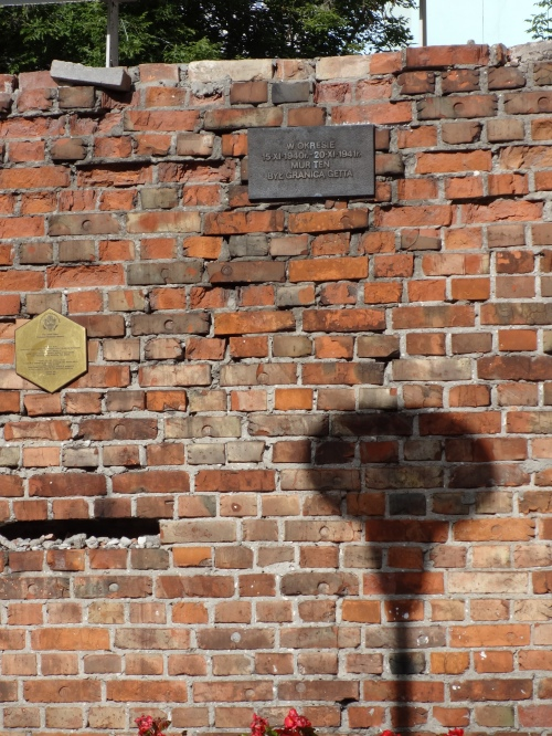 Warsaw Ghetto wall.