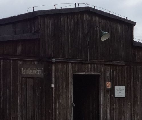 """Majdanek. Gas Chamber building. """"Bath and Disinfection I"""""""