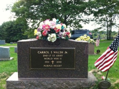 Carrol S Walsh Jr. At rest in Johnstown, NY. Photo by Elizabeth Connolly.