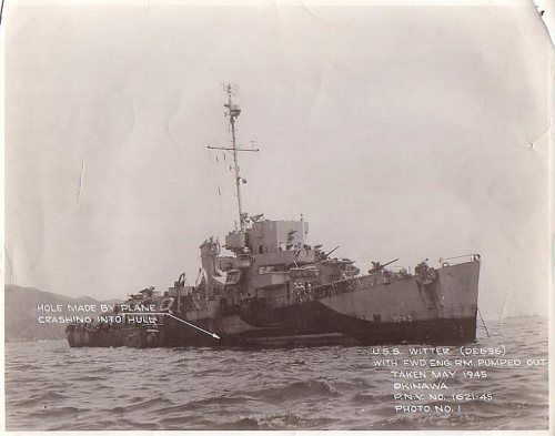 USS WITTER after attack.