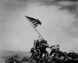 Flag raising on Iwo Jima. Joe Rosenthal, Associated Press, February 23, 1945. 80-G-413988.