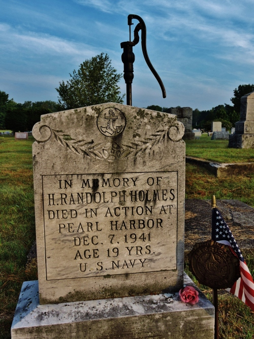 Randy Holmes monument, Hudson Falls. He is not home-yet. Photo by me, this past summer.Moss St. Cemetery.